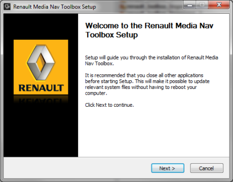 Renault Media Nav Toolbox installation